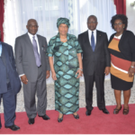 PRESIDENT AND HOUSE'S LEADERSHIP PAY COURTESY CALLS……